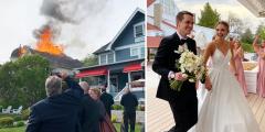 Несмотря на пожар, свадьба состоялась