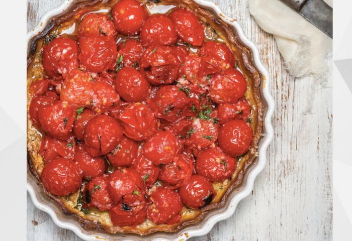 Пирог с помидорами черри