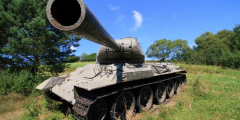 В Южно-Сахалинске на дорогу уронили танк (Видео)