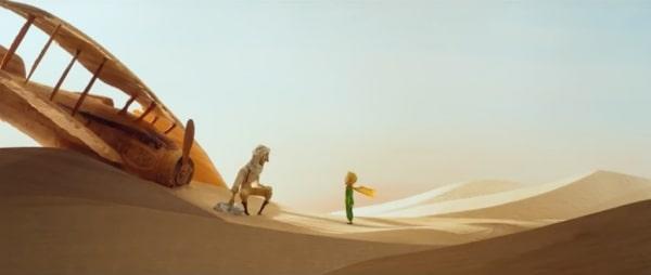 the little prince plane crash 1 - Откройте для себя заново очарование анимационного фильма «Маленький принц»