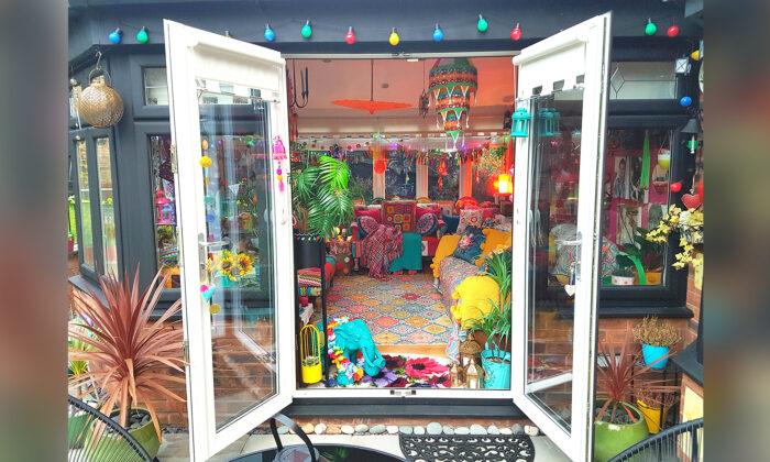 Изобретательная домохозяйка превратила скучное жилище в разноцветное царство