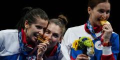 Российские саблистки выиграли золото Олимпиады в Токио