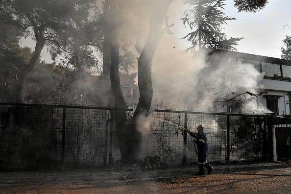 Пожар в предместье Афин: для жителей это настоящее бедствие