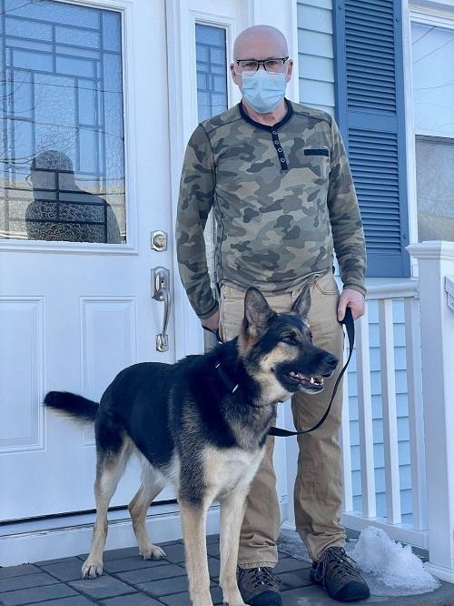 Собака спасла жизнь новому хозяину