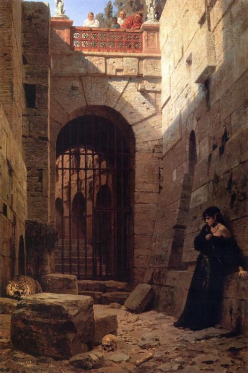 «Цезарская забава»: расправа над христианкой на картине Поленова