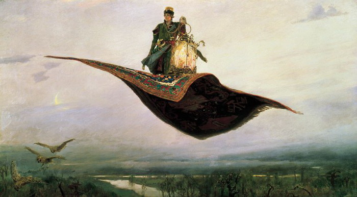 Почему одна из трёх царевен Васнецова одета в простое чёрное платье