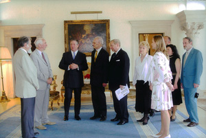 На приеме у сербского кронпринца Александра II в составе депутации РДС в июне 2005 г.
