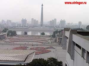 Наверное, это самый красивый и стройный вид на Пхеньян, который удалось отснять в этот день. Фото: Елена Токарева