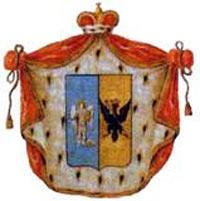 Старинный  Герб князей  Волконских (цветность щита как и у флага Украины!)