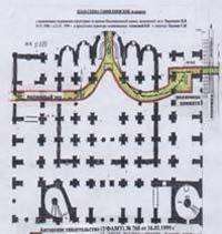 План-схема Софии Киевской в разрезе
