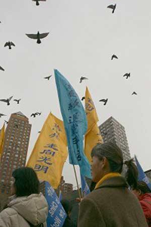 Голуби - символ мира. Фото: The Epoch Times