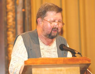 Выступление главного соредактора журнала *Посев* Александра Штамма. Фото: Великая Эпоха